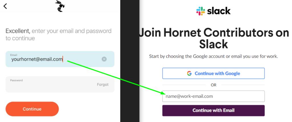 Sign Up Process Hornet