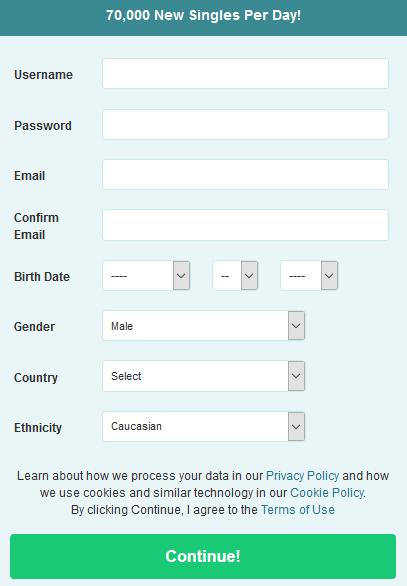 Sign Up Process pof