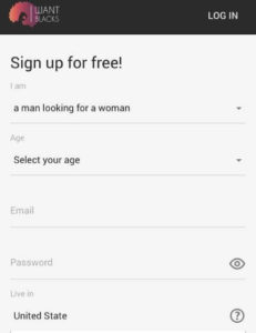 IWantBlacks sign up